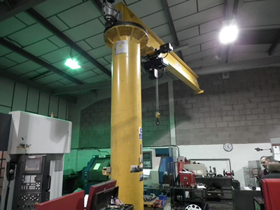 360 degree slewing crane