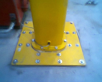 1 tonne pillar crane base
